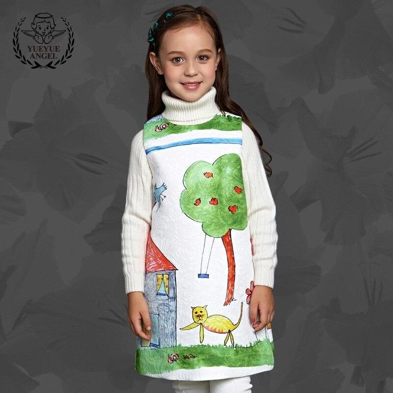 Personalized Cartoon Clothes Girl Summer Princess Birthday Dress Elegant Sleeveless Vest Dresses For Girls Deguisement Enfant robe cleopatre deguisement