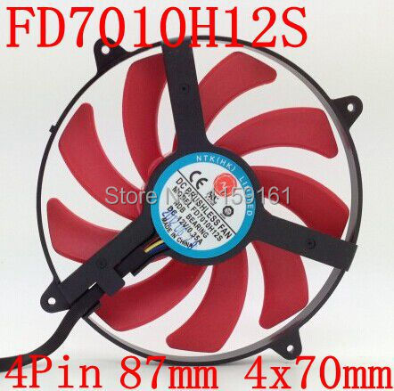 Free Shipping   NTK FD7010H12S  for ATI  HD7990 installation hole of ultrathin 70mm graphics card fan computador cooling fan replacement for msi twin frozr ii r7770 hd 7770 n460 n560 gtx graphics video card fans pld08010s12hh