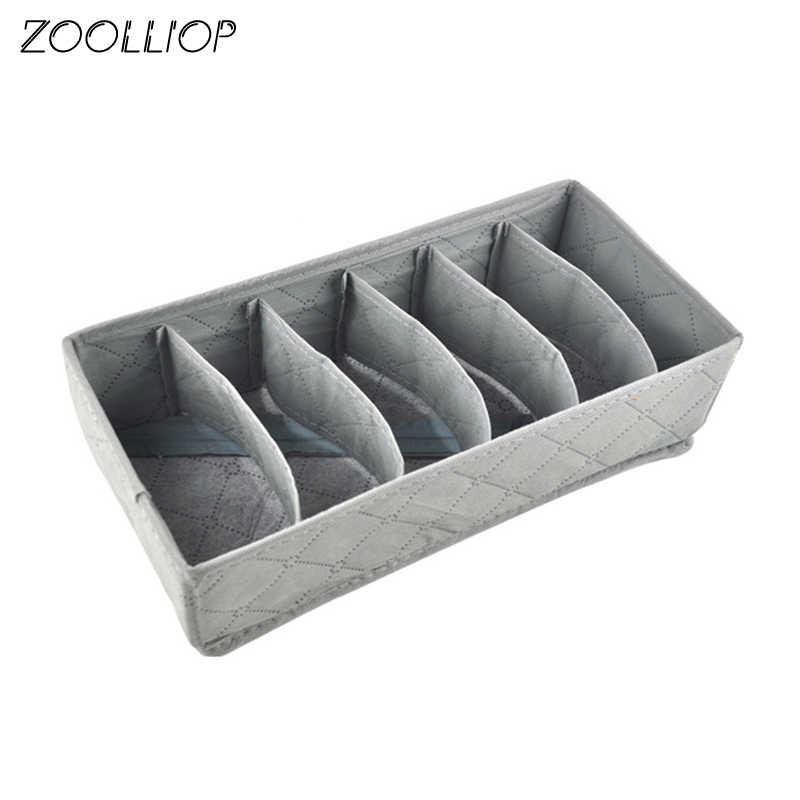 Ropa interior sujetador organizador caja de almacenamiento 2 colores cajón armario organizadores cajas para ropa interior bufandas calcetines sujetador paño de tamaño múltiple