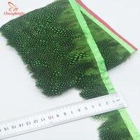 Chengbright al por mayor 10 yardas verde faisán Plumas recorta ropa del Partido de la falda del vestido de boda decoración artesanía Plumas cinta