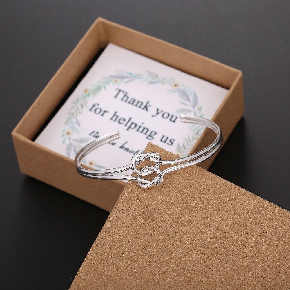 Knot Bracelet Bridesmaid Proposal Love