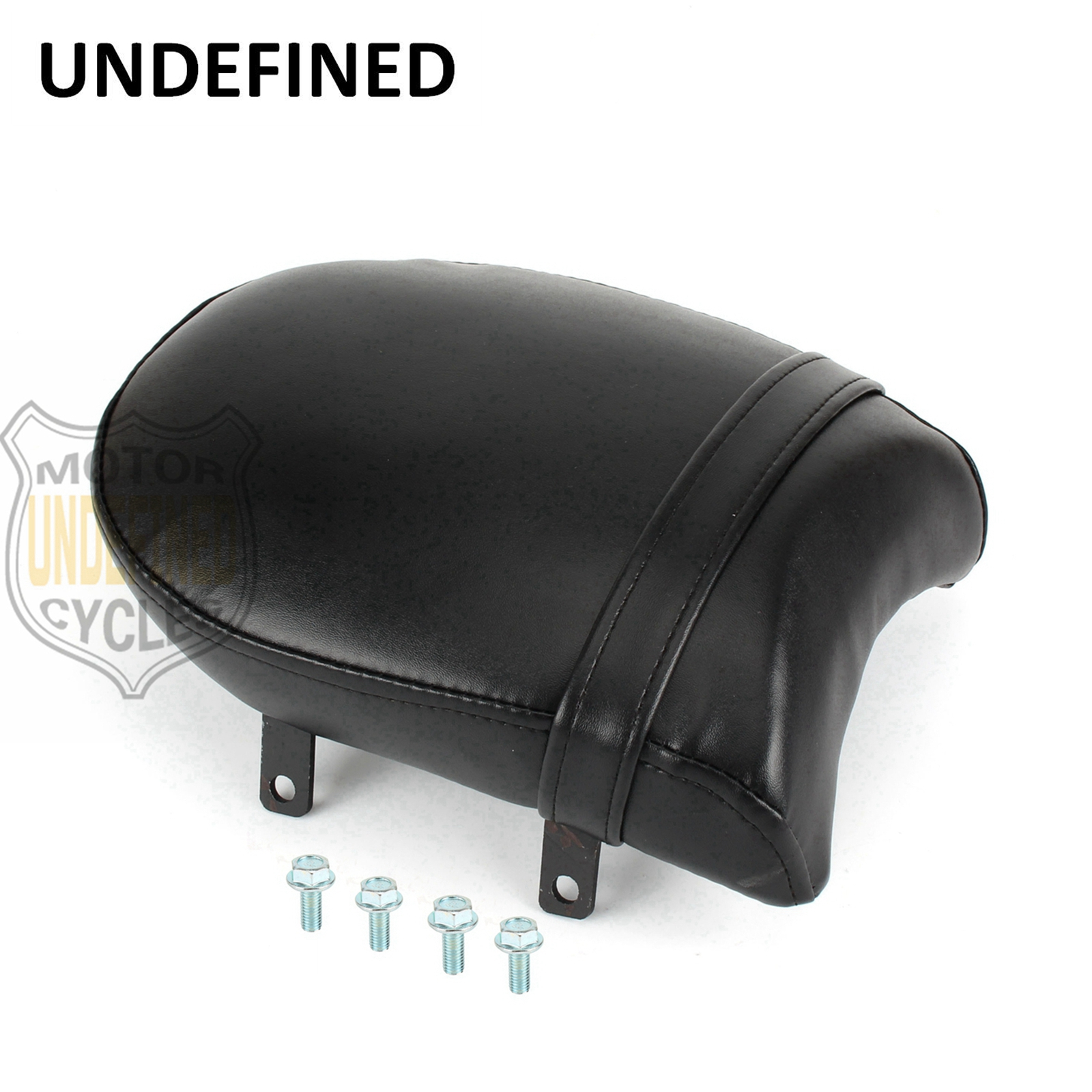 Motorbike Accessories Black Leather Rear Passenger Pillion Pad Seat For Victory High-Ball Vegas Low Kingpin 8-Ball UNDEFINED