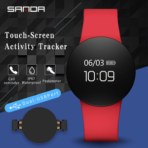Image 5 - SANDA SD3 moda Casual kobiety/mężczyźni inteligentne przypomnienie pomiar podczas snu zegarek OLED ekran dotykowy krokomierz sukienka sportowa cyfrowy zegarek