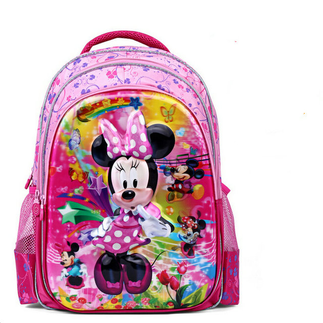 Baby Girls Cartoon Minnie School Bag Kids 5D Pattern Backpacks ...
