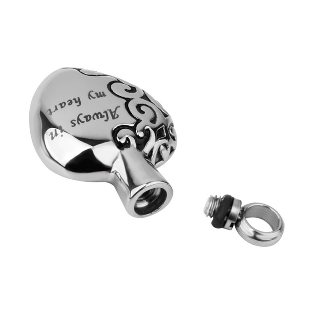 Always In My Heart Silver Urn Pendant