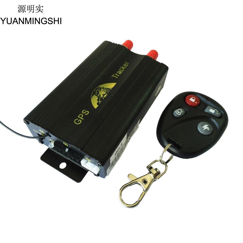 YUANMINGSHI système de suivi GPS de voiture GPS GPRS dispositif de suivi de véhicule de voiture avec télécommande de fente de carte SD