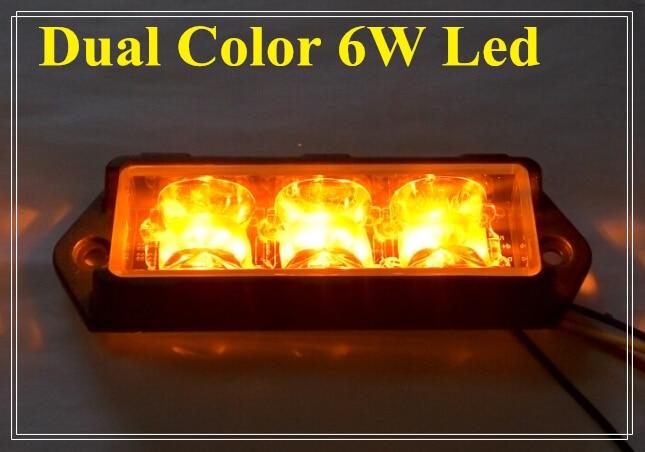 Διπλή έγχρωμη φωτεινή λάμπα 6 * 3W που - Φώτα αυτοκινήτων - Φωτογραφία 3