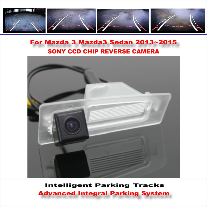 Rear Camera For Mazda 3 Mazda3 Sedan 2013 2015 Intelligent Parking Tracks Backup Reverse TV Lines Dynamic Guidance Tragectory in Vehicle Camera from Automobiles Motorcycles