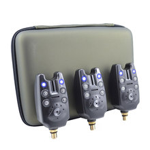 Carp Fishing Bite Alarms Set Electronic Indicator for Fishing Rod Alarm Sound Fishing Alert with 3pcs Swingers