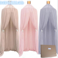 Baby Bed Mosquito Net Kids Bedding Round Dome Hanging Bed Canopy Curtain Chlildren Baby Room Decoration Crib Netting Tent