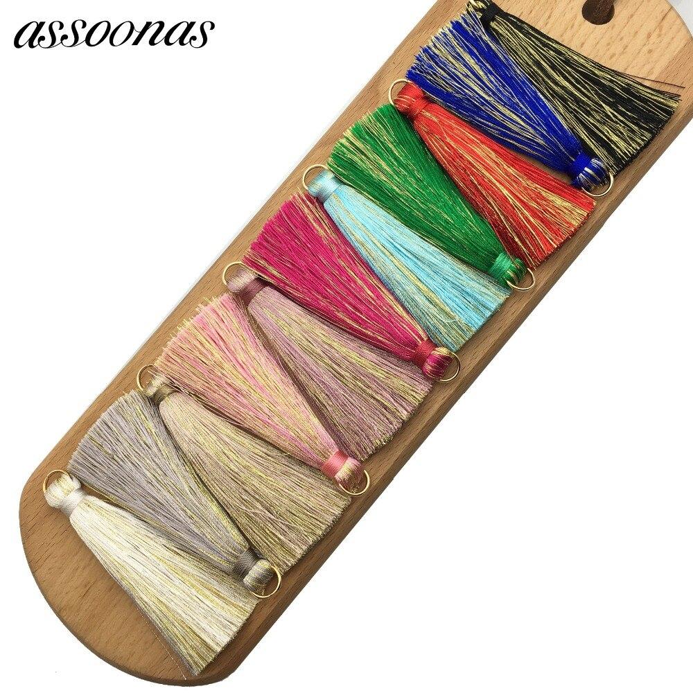 assoonas L59/tassel fringe/silk tassels/jewelry accessories/accessories parts/jewelry findings/embellishments/diy accessories gufeather l39 10cm silk tassel jewelry accessories jewelry findings