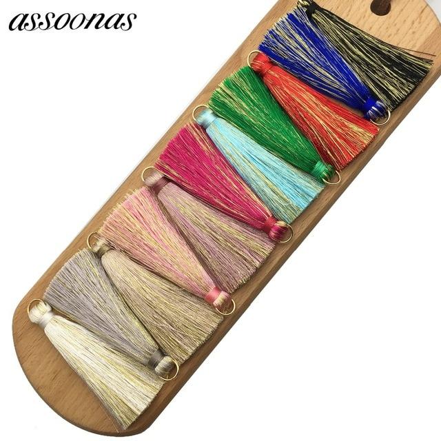 assoonas L59/tassel fringe/silk tassels/jewelry accessories/accessories parts/jewelry findings/embellishments/diy accessories