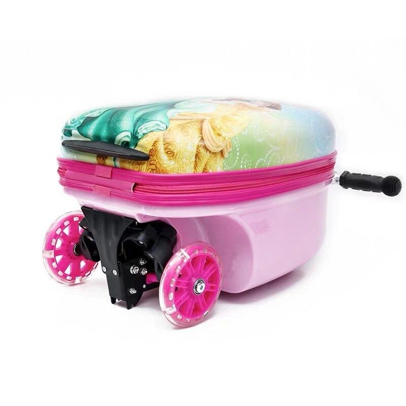 Новый милый детский маленький чемодан для скутера, сумка на колесиках, Детская сумка для переноски, дорожная сумка на колесиках, Детская подарочная коробка - 5