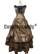 Southern Belle Ball Gown Chocolate Wedding Dress