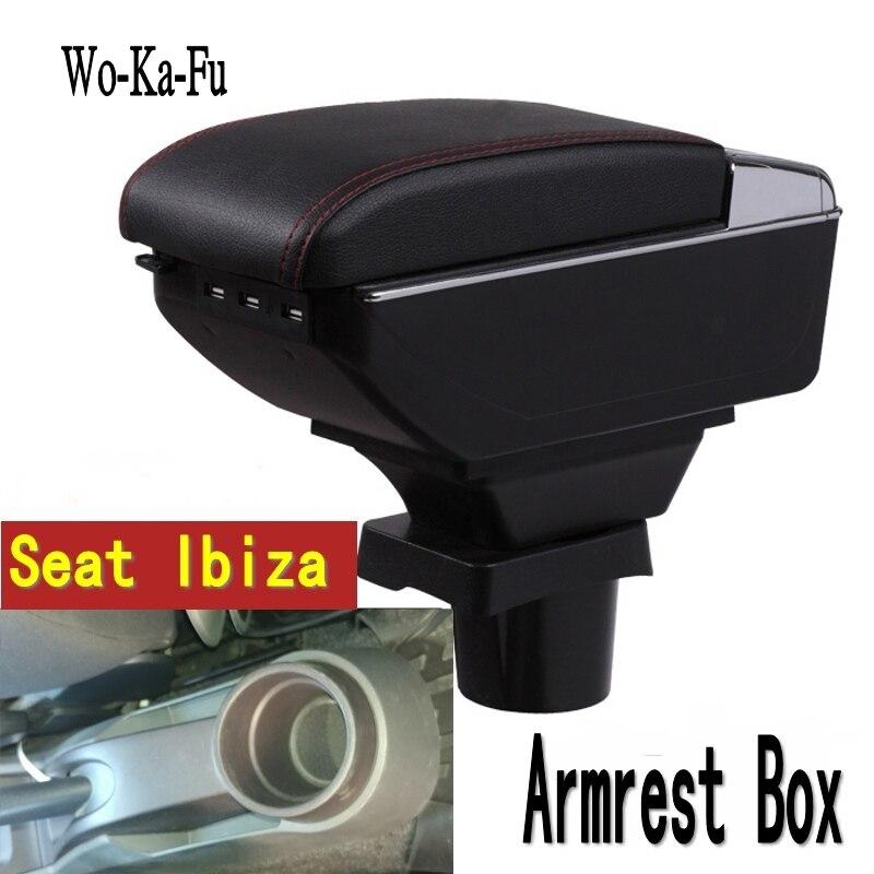 Für Seat ibiza armlehne box zentralen Speicher inhalt Lagerung box Sitz armlehne box mit tasse halter aschenbecher usb-schnittstelle