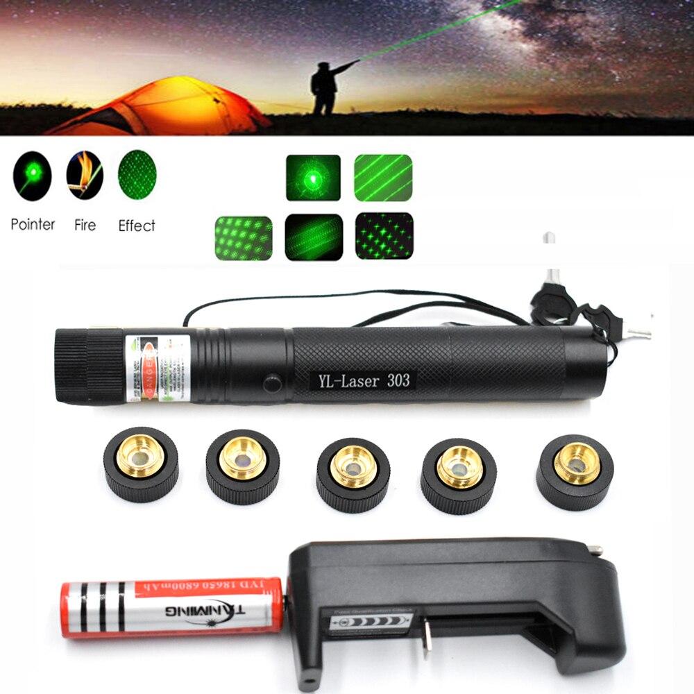 Laser Pointer Burning  High Power Hunting Green Lazer Tactical Laser Sight Pen 303 Laserpen Powerful Laserpointer Flashlight