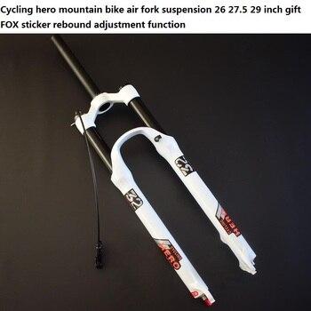 Tubo recto (1-1/8) Tubo Cono (1-1/2) Suspensión neumática horquilla de bicicleta de montaña enchufe 26 27,5 29 pulgadas pegatina de zorro de regalo Super SR SUNTOUR