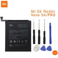 Xiao mi d'origine BN31 batterie de téléphone portable pour Xiao mi 5X mi 5X \ rouge mi Note 5A 5A pro 3000mAh Batteries de remplacement + outils
