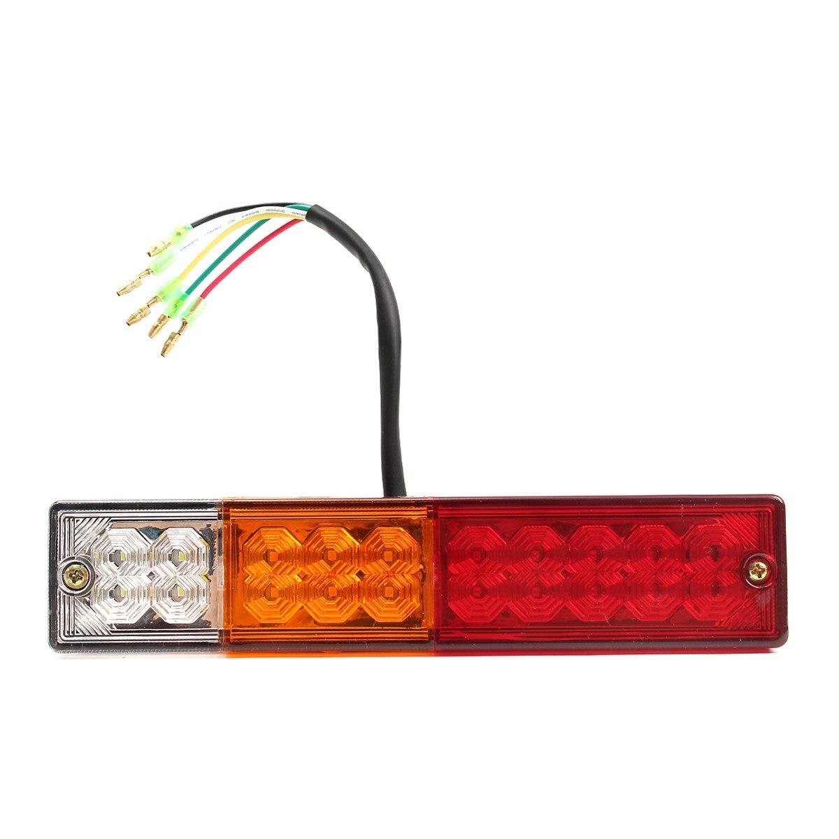1Pcs Car Rear Tail Light 20 LEDS 12V 24V  Reversing Brake Turn Signal Lamp Indicator For Trailer Truck Caravan Tail Light 2pcs truck light 4 leds lamp