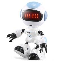 JJRC R8 czujnik dotykowy LED oczy zabawkowy zdalnie sterowany robot inteligencki głos DIY Body gest modelu prezent na Boże Narodzenie dla dzieci zabawki
