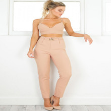 Summer new hot Italian style female pencil pants fashion Slim trousers wild ladies casual hip high waist