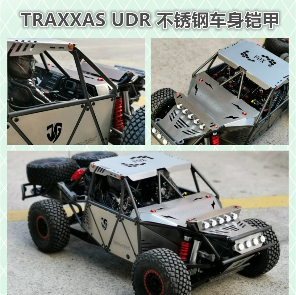 US $151.3 15% OFF stainless steel hull armor hood top cover side panel LED  replace car shell for 1/7 Traxxas UDR Unlimited Desert Racer-in Parts & ...