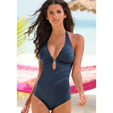 2017 High Quality One-Piece Swimsuit Bathing Suit Solid Color Swimwear Beachwear