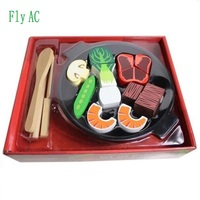 Fly AC Pretend Food Kitchen Play Set for Kids Cutting Vegetables Play Food Kitchen Toys Educational gift