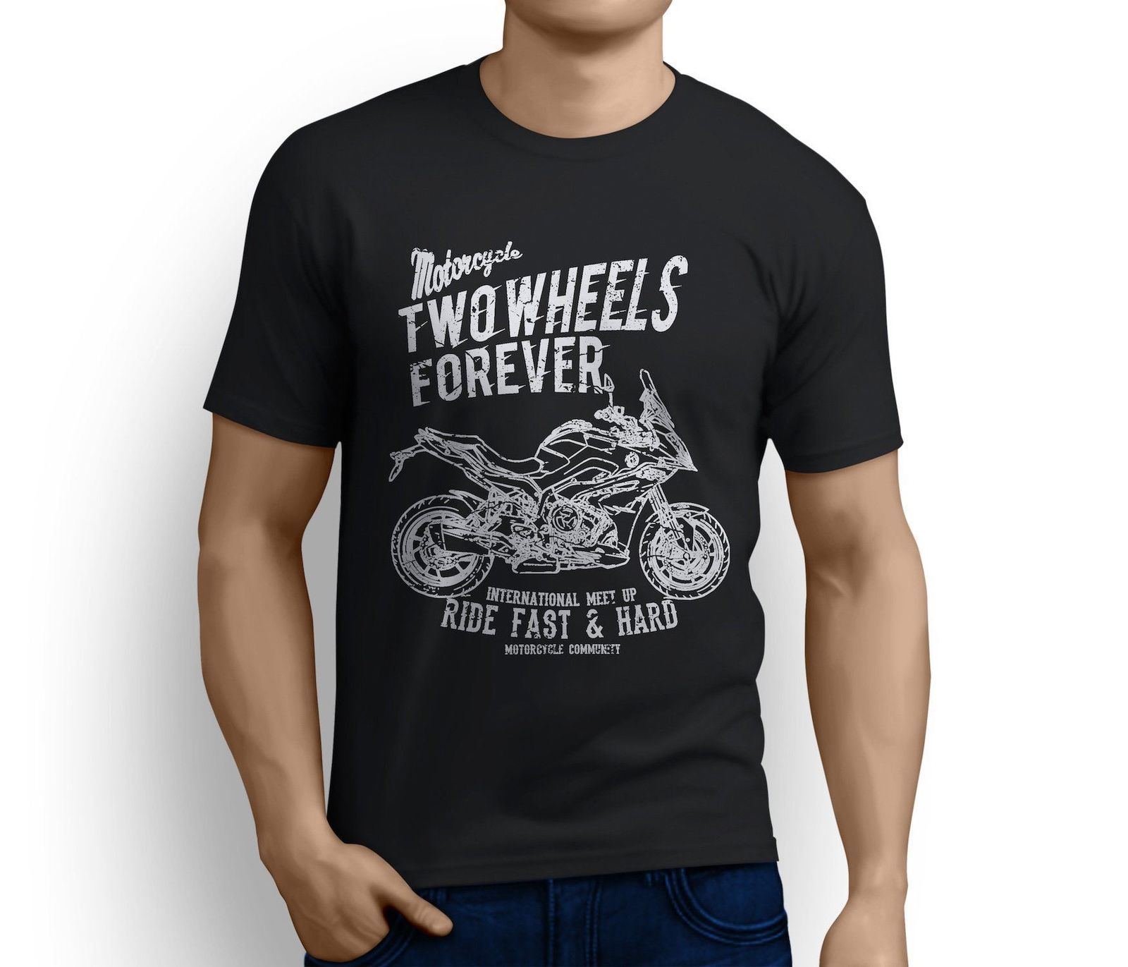 2019 New Summer Cool Germany Classic Motorbike S1000XR 2017 inspired Motorcycle Fan Art T-shirts Tee Shirt image