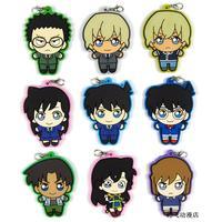 9 pcs/set Detective Conan figures Edogawa Kona Jimmy Kudo Haibara Ai genuine pvc figure phone strap/keychain pendant toys