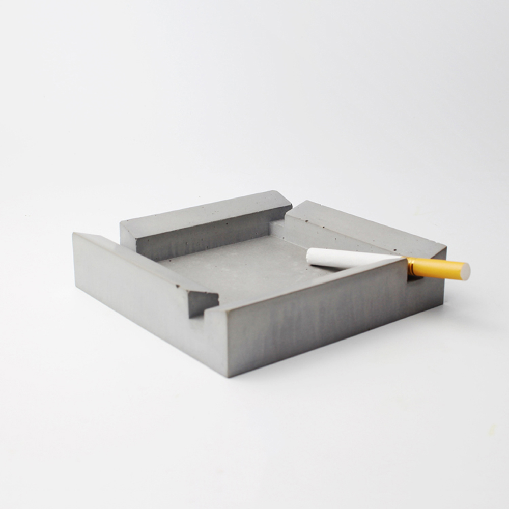 square cement ashtray Concrete mould DIY silicone car ashtray molds clay craft home office decoration creative mold