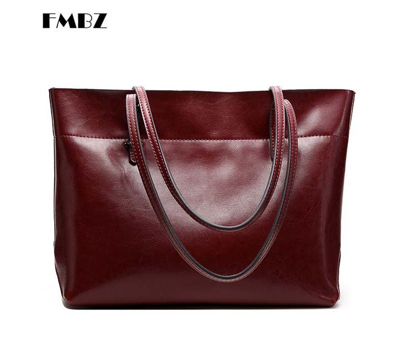 2018 fashion leather large-capacity women bag Middle-aged lady big bag Casual shopping mom uses a handbag Big bag free shipping 100% genuine leather make cow leather handbag shoulder bag shell bag middle aged women suitable for life shopping the best gift