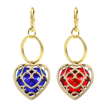 Zelda Legend Fashion Key Chain Hollow Personality Alloy Gold Frame Red Blue Acrylic Love Key Chain Key Ring Ladies Men's Gift the legend of zelda keychain blue red heart crystal key ring holder fashion car chaveiro game key chain pendant gift jewelry
