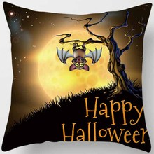 Hot sale halloween pumpkin castle witch ghoul pillowcase square pillow cases home creative color cover 45*45cm
