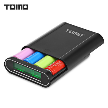 TOMO T4 Smart Power Charger C4 X 18650 Li-ion Battery 5V 2A Powerbank Case Portable DIY Power Bank Box Charger For 18650 Battery Зарядное устройство