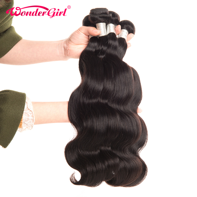 4 Bundle Deals Brazilian Body Wave Natural Color Brazilian Hair