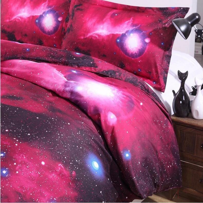 Galaktikapiltidega 3D voodipesukomplektid
