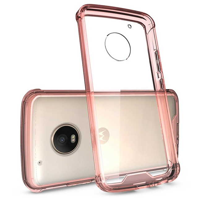 Hot Hybrid Shockproof Cover Air Cushion Tech Frame Case With Crystal Clear Back Panel Shell Mask For Motorola Moto G5 / G5 Plus