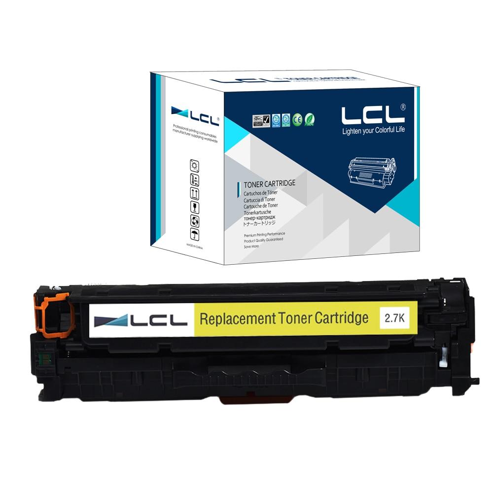 LCL 312A CF382A CF 382 A (1-Pack)Compatible Laser Toner Cartridge for HP Color LaserJet Pro M476dn MFP/M476dw MFP 4x cf380a cf381a cf382a cf383a 312a compatible color toner cartridge for hp laserjet pro mfp m476dw m476nw cf387a cf385a printer