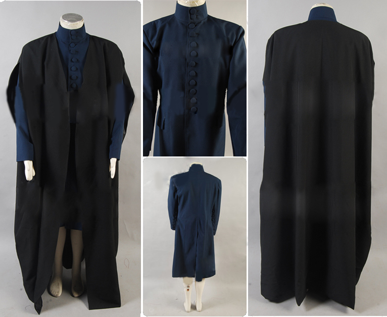 Deathly Hallows Professor Severus Snape Costume Cosplay Coat Long Version