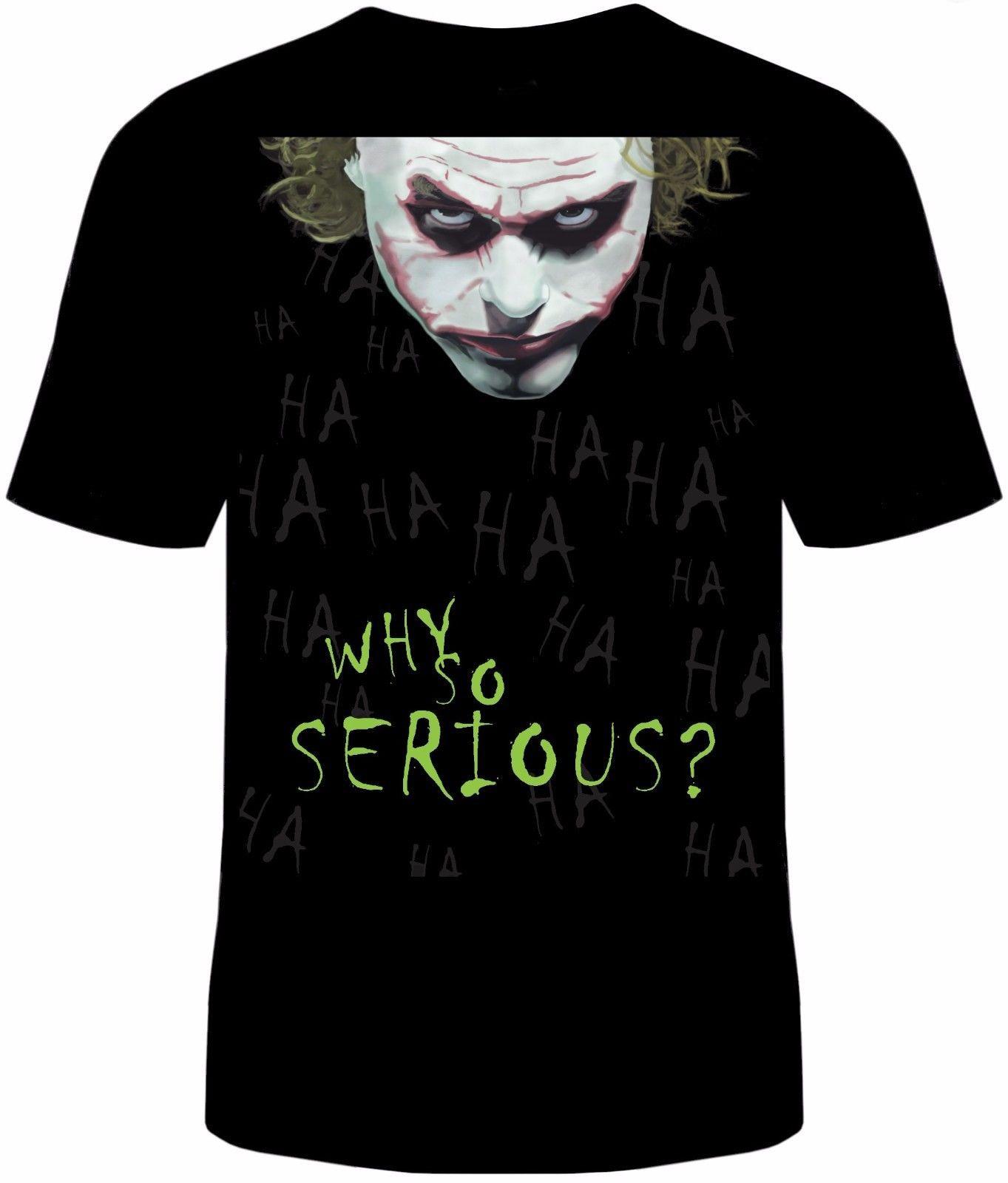 Why So Serious Joker T-Shirt Unisex Cotton Adult Batman Halloween Sizes New