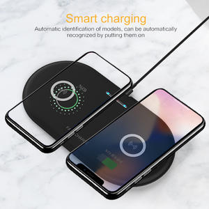 Charging-Station-Dock Wireless-Charger Desktop Dual-Qi iPhone X Fast Samsung S10 8-Plus