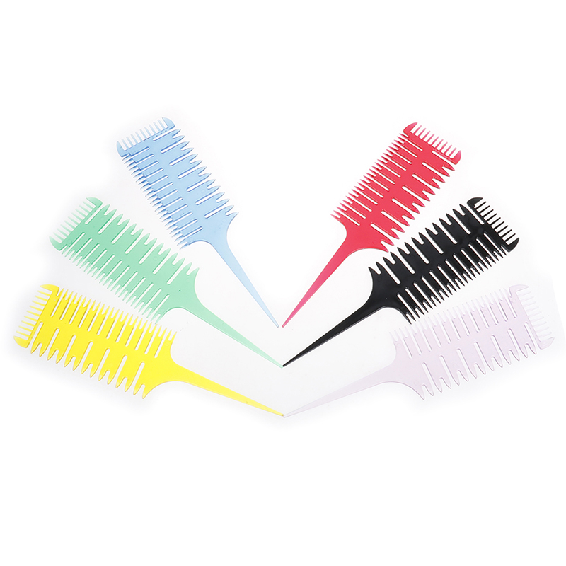 3-Way Hair Dyeing Comb Sectioning Highlight Comb Professional Weave Weaving Comb Hair Dye Styling Tool For Salon Use