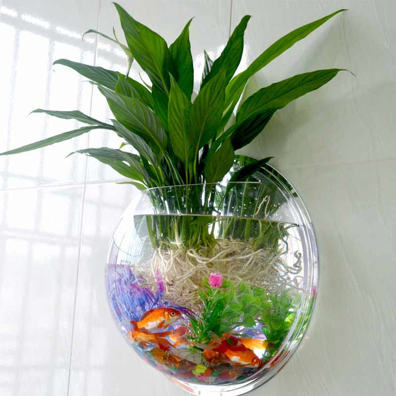 Bubble Pot Wall Hanging Mount Bubble Home Decoration Aquarium Bowl Fish Tank Aquarium Hogard China