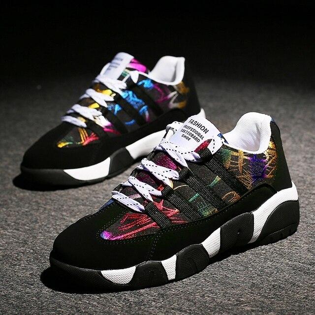נשים נעליים יומיומיות סתיו נעלי נשים חורף חם צבעוני מאמני פאטאל דירות יוניסקס נעלי סניקרס נשים Tenis נעלי בד