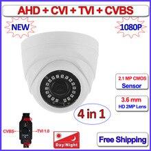 2MP mini cctv camera security 1080P HD Analog Night Vision AHD H TVI CVI camara, 3.6mm Lens, 3DNR, 960H, DWDR, Sense-up, OSD