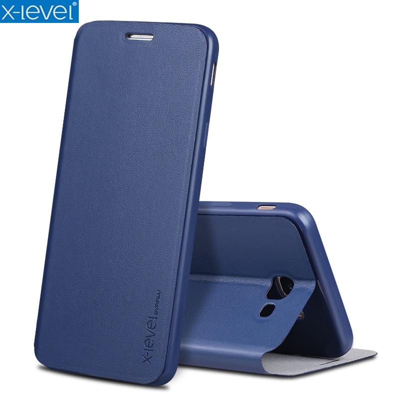 X-Level kniha kožená flip pouzdra pro Samsung Galaxy J7 Prime Ultra - Příslušenství a náhradní díly pro mobilní telefony