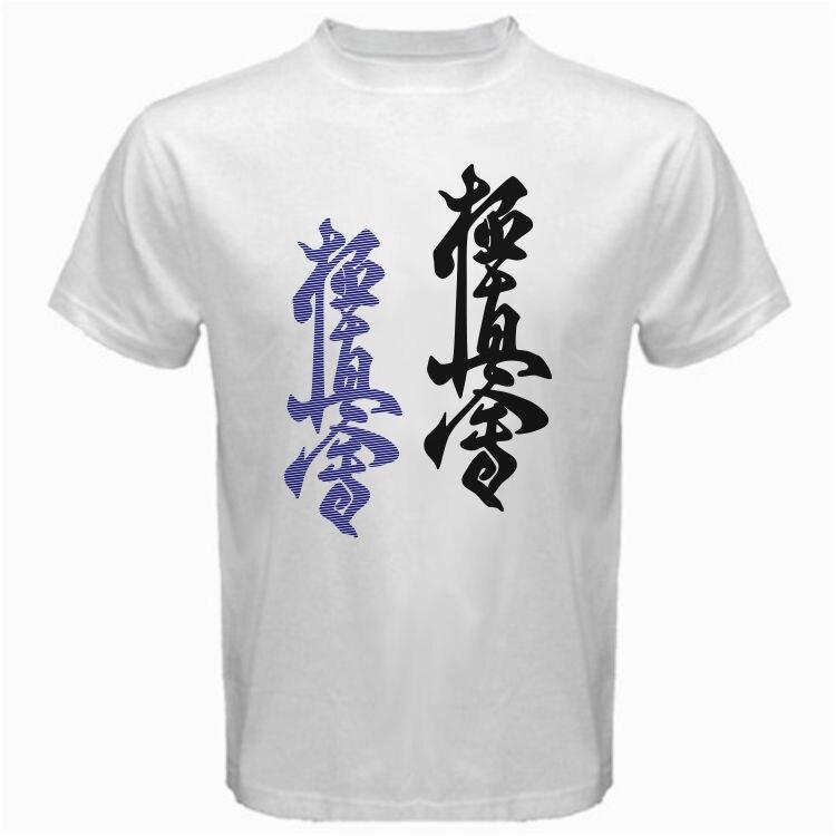 Kyokushin Karate Kaikan 빅 로고 NNA 혼합 Martialer Artser 티셔츠 USA 사이즈 브랜드 코튼 남성 의류 남성 슬림 피트 T 셔츠