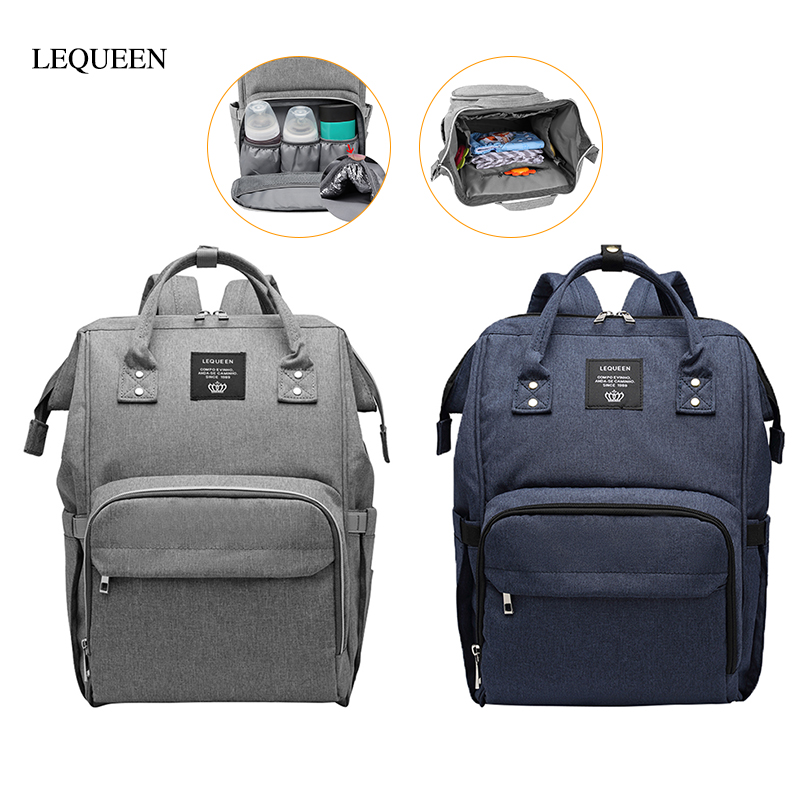 LEQUEEN Multi-function Mummy Diaper Bag Maternity Nappy Bags Stroller Large Capacity Travel Backpack Nursing Baby Care Wetbag