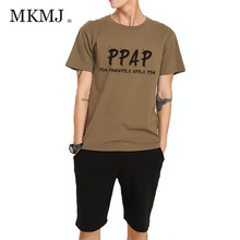 PPAP t shirt men women Pen Pineapple Apple Pen Funny Japanese pop songs hip hop Cotton Man Short Sleeve T Shirts AMD445